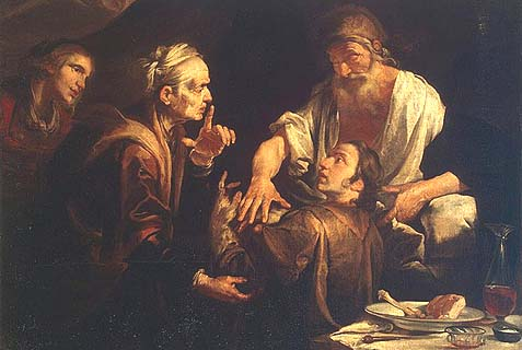 Isaac Blessing Jacob, by Gioacchino Assereto