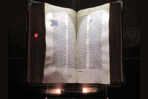 A John Wycliffe Bible in the Green Collection of rare biblical texts and artifacts. The entire collection will be donated to the upcoming International Bible Museum in Washington, D.C.
