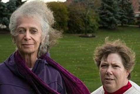 Susan Galloway (right), a Jew, and atheist Linda Stephens are behind the fight in the Supreme Court over public prayer.