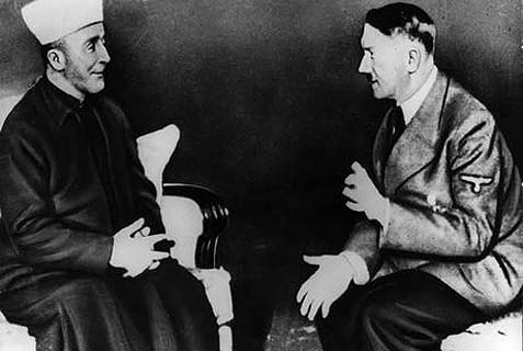 The grand mufti of Jerusalem Haj Amin al-Husseini (L) with Adolf Hitler.