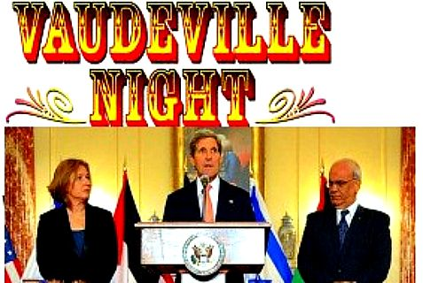 It was Erekat's turn to take center stage Thursday night. Kerry is next up. Livni is there just for laughs.