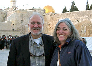 Alan Gross and his wife Judy in Jerusalem in past years.