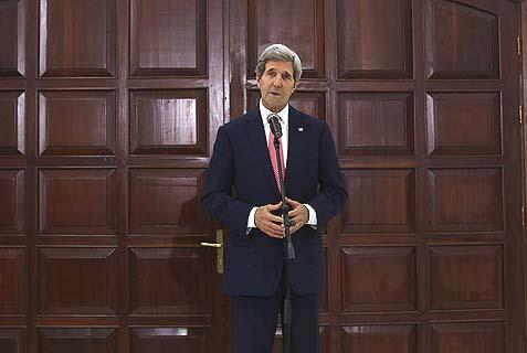 U.S. Secretary of State John Kerry in Ramallah.