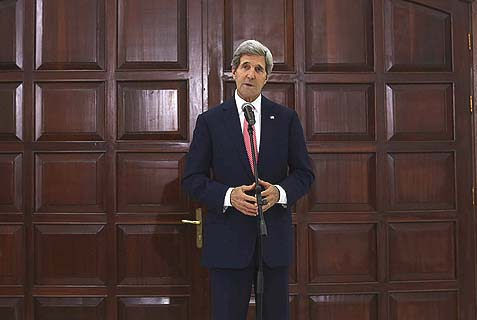 U.S. Secretary of State John Kerry in Ramallah.