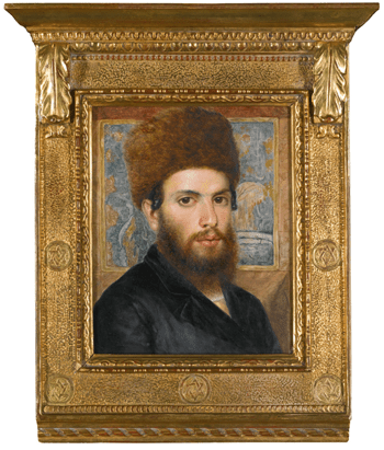 Portrait of a Young Rabbi, (ca. 1897) oil on panel by Isidor Kaufmann Courtesy Sotheby's