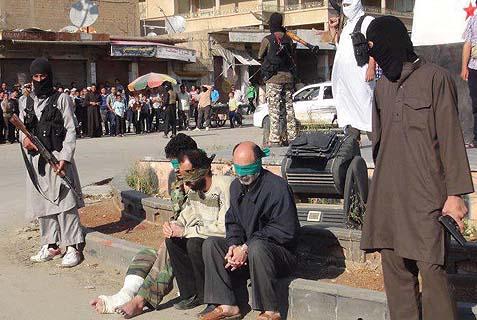 Jihadist public execution in Syria.