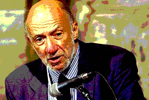 "Richard Falk, the UN Human Rights Council's permanent investigator on ""Israel's violations of international law."""