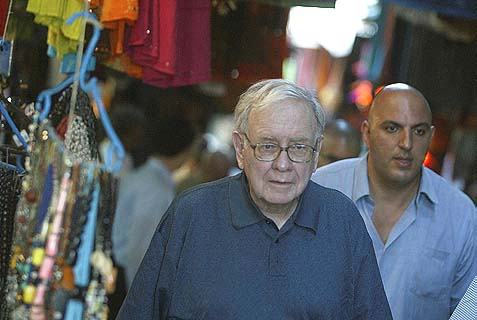 Warren Buffett touring the Old City of Jerusalem.