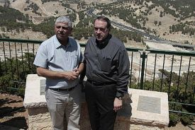"Huckabee in Maaleh Adumim, where he can be assured of the ""Jewish vote"" of a couple hundred American ex-pats."