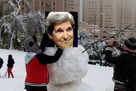 Kerry arrived in Israel Thursday in the middle of a snowstorm.
