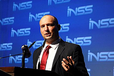 Israeli Minister Naftali Bennett at the INSS conference in Tel Aviv, January 2014.