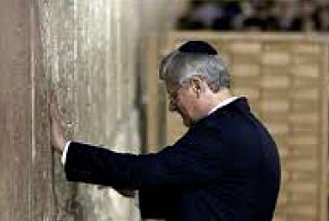 Canadian Prime Minister Stephen Harper at the Western Wall