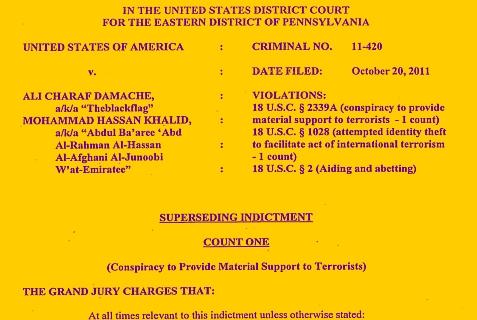 Indictment charging Teen Terrorist Mohammad Hassan Khalid