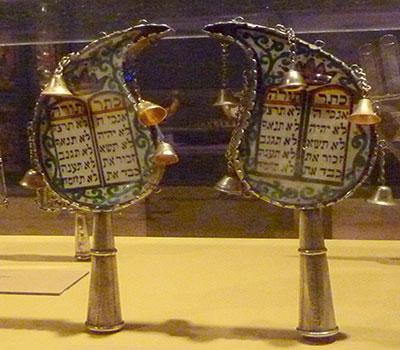 Botah Torah Finial (1933) Silver, glass, ink on paper, Yazd, Iran Courtesy Yeshiva University Museum