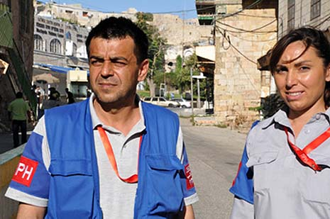 TIPH monitors in Hebron.