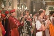 Papal behavior: Jeremy Irons as Pope Alexander VI in the TV series The Borgias.