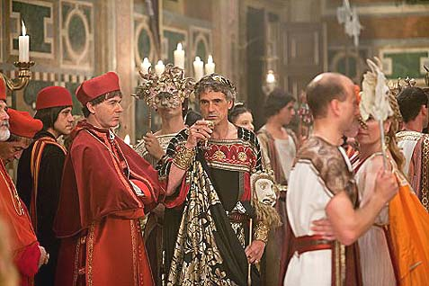 Papal behavior: Jeremy Irons as Pope Alexander VI in the TV series The Borgias.