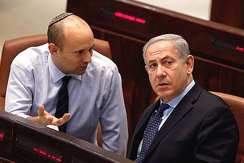 Bennett (left) and Netanyahu.