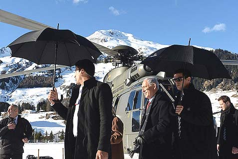 Netanyahu during his visit to Davos, Switzerland, for the World Economic Forum, Wednesday, January 22, 2014.