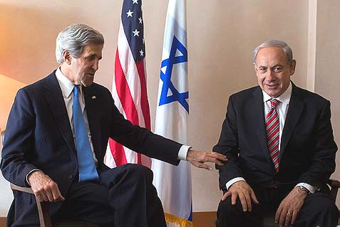 Israeli Prime Minister Benjamin Netanyahu has been telling U.S. Secretary of State John Kerry that he's ready to dismantle settlements, he just wants the process to take longer and for someone else to do the final deed. His dad must be so proud…