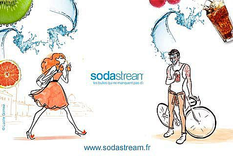 A SodaStream ad in France, where a BDS-linked group has been found guilty of maligning the company.