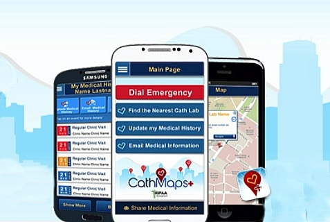 CathMaps+ is a new mobile phone app to assist cardiac patients. It was developed by an Israeli company