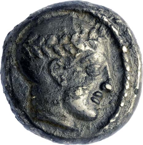 Coin from the reign of King Antiochus III. Photo: Clara Amit, courtesy of the Israel Antiquities Authority