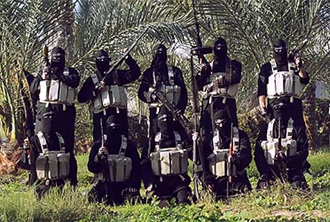 Members of the Al-Qaeda-affiliated Islamic State of Iraq and the Levant [Daesh] in Gaza.