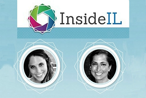 Della Heiman (L) and Sara Greenberg are Harvard Business School students who launched Inside IL