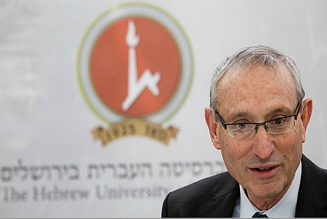 Pres. of Hebrew University of Jerusalem, Prof. Menachem Ben-Sasson. Oct. 9, 2013