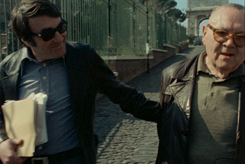 The Last of the Unjust (2013), documentary film by Claude Lanzmann Lanzmann and Benjamin Murmelstein (right side) in Rome. Courtesy Synecdoche & Le Pacte Films