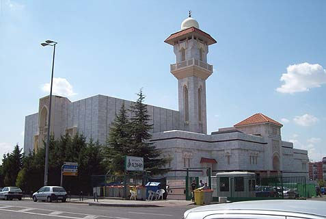 Islamic Cultural Centre and Mosque of Madrid, Spain, constructed between 1987 and 1992, and inaugurated in 1992.