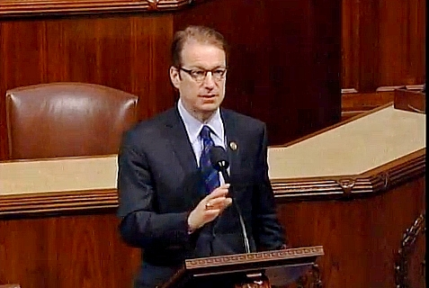 Cong. Peter Roskam (R-IL) introducing the Protect Academic Freedom Act on Tues., Feb. 4, 2014