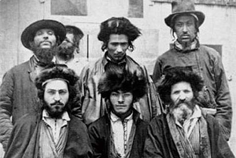 A group of Caucasus Jews circa 1876. While there were many Jews living in Georgia, Armenia and the Caucasus, the claims that all of European Jewry stemmed from the 8th century Khazar empire is not only baseless, it is politically motivated.