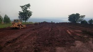 rowanda solar field under construction
