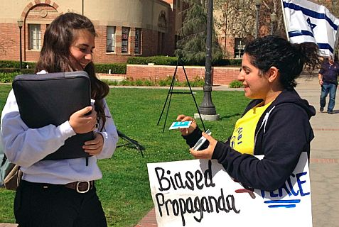 UCLA students for Israel counter anti-Zionist propaganda.