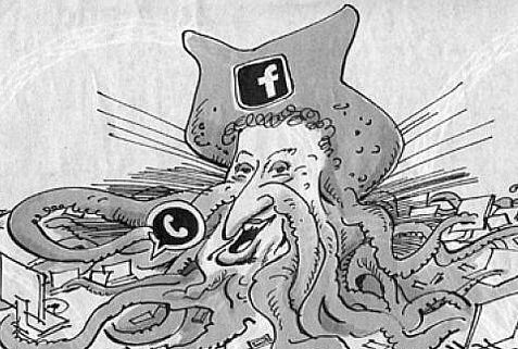German newspaper cartoonist claims his hook-nosed caricature of Zuckerberg is not anti-Semitic.
