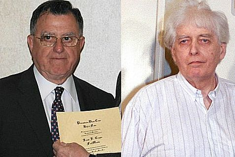 Americans Joseph Cicippio (left) and Edward A. Tracy, who were held hostage in Beirut in the 1980s.