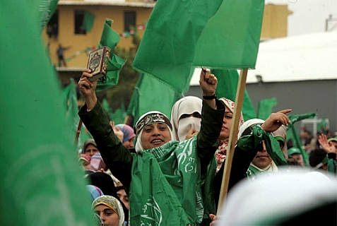 Hamas rally on March 26, 2014.
