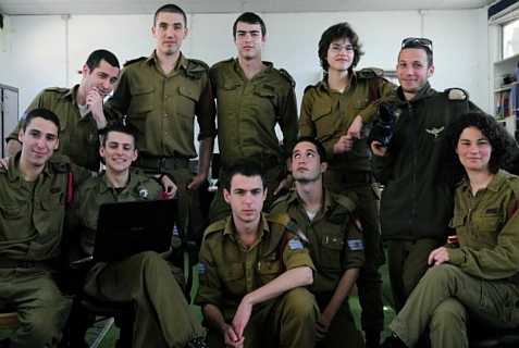 IDF soldiers in the interactive medical training school.