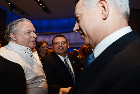 "In his only address during his short visit to Southern California, Israeli Prime Minister Benjamin Netanyahu spoke to diplomats, businessmen and community leaders at the Simon Wiesenthal Center in Los Angeles. Netanyahu, speaking about the Iranian threat, said, ""If there is something I can say here at the Museum of Tolerance, it is that we cannot be tolerant of the intolerant."""