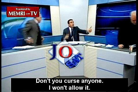 Jordanian news show guests began chasing each other around the set