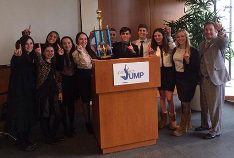 JUMP Winners (left to right) Karen Steinberg, Adina Bronstein, Ariela Israelov, Jackie Olemberg, Shane Herskowitz, Danny Bister, Jacob Mitrani, Ariella Stein, Merah Frank, and Todd Cohn.