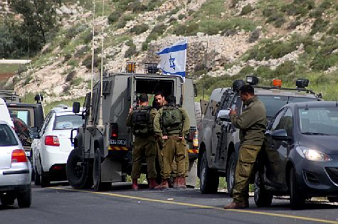 Israeli soldiers were forced to close off the area where a terror attack occurred  near Hevron on Passover eve, in search of the terrorists.