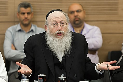 United Torah Judaism parliament member Yaakov Litzman.