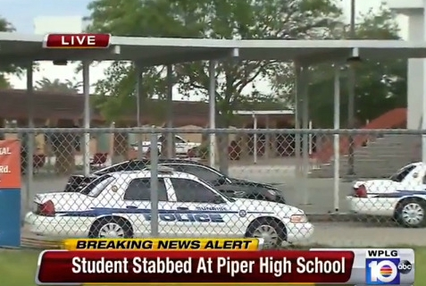 South Florida teen stabbed in high school gym.