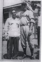 Zalta with Bob Feller.