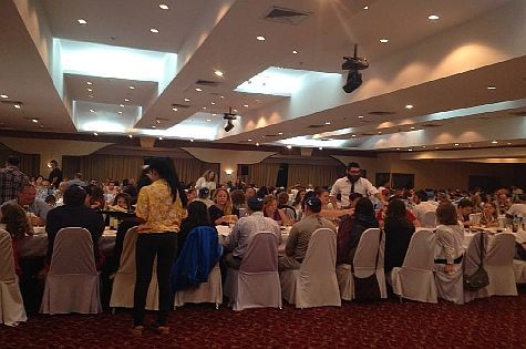 Hundreds came to the Bangkok Chabad House Passover seder this year.