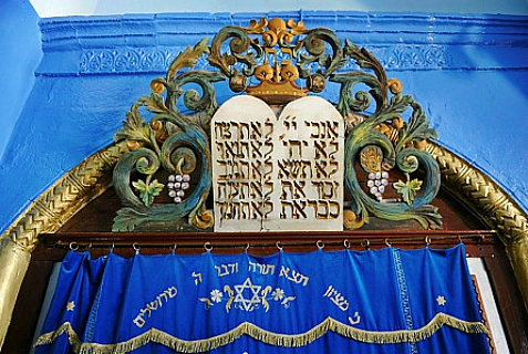 Aron HaKodesh from synagogue in Tzfat.