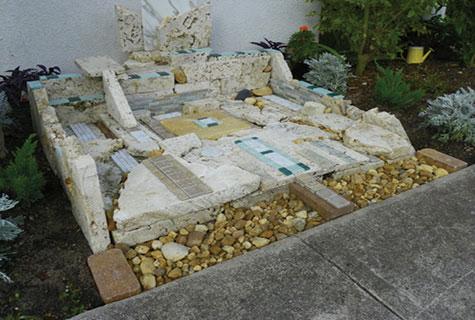 Shimon Braun's art installation at Ohev Shalom Synagogue.